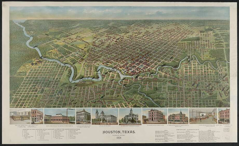 A map of Houston in 1891.