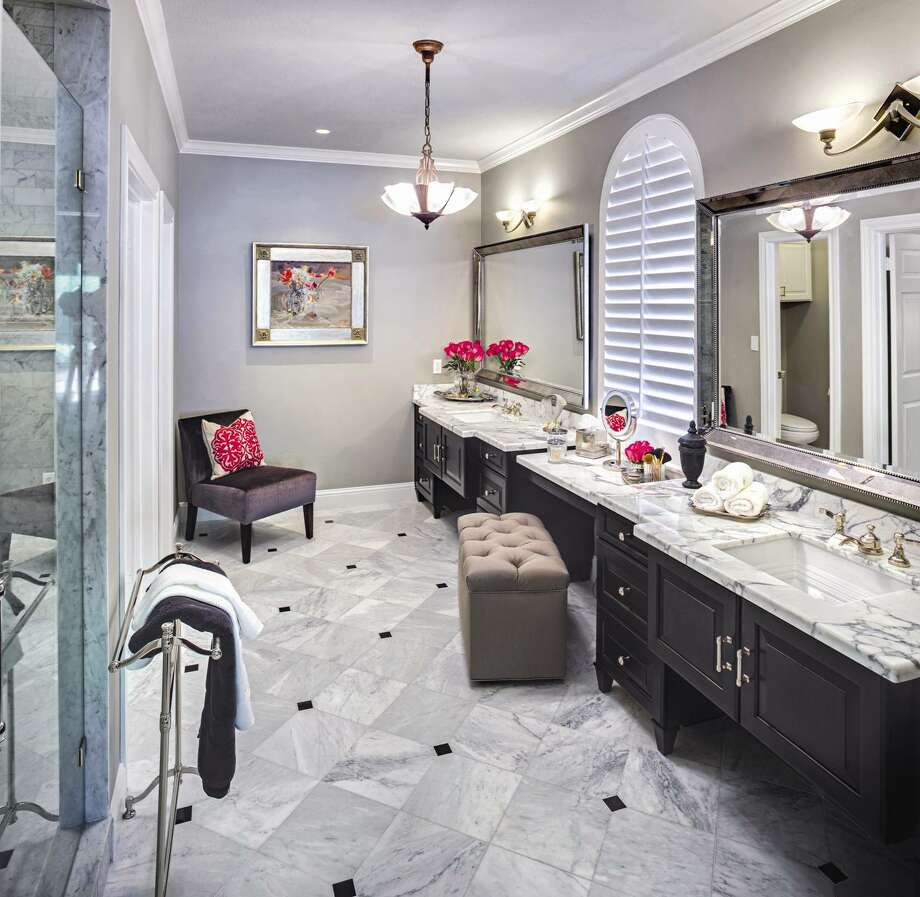 This elegant master-bath remodel was the collaborative creation of Lynne T. Jones Interior Design and Remodeling Concepts Inc.