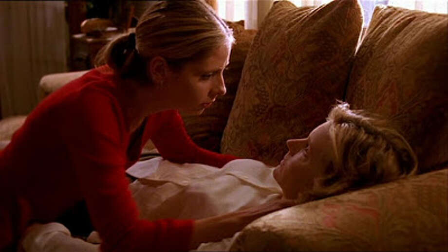However, a much more stark and heart-breaking moment was when Buffy's mother, Joyce,  unexpectedly died of a brain aneurysm. The episode was stripped of music and filled with disorienting effects to convey the sense of shock and grief over the loss of a family member.