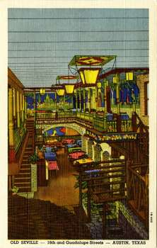 UNITED STATES - CIRCA 1941:  Vintage linen advertising postcard showing the interior of the Old Seville Restaurant.  (Photo by Lake County Museum/Getty Images) Photo: Getty Images