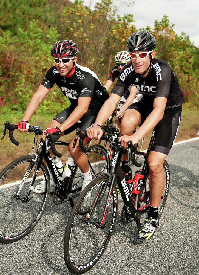 Former pro cyclist  George Hincapie (right) has a new bike-friendly  inn in Travelers Rest, S.C.: Hotel Domestique. Photo: Hotel Domestique