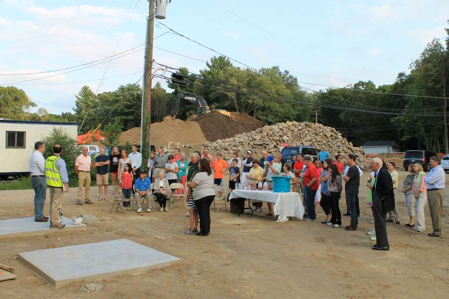 More than 50 Y members and supporters gathered for an evening tour of the new Y building site on Aug. 29, 2013.