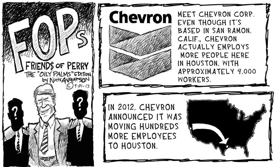 Meet the Chevron Corporation ... Photo: Nick Anderson, Houston Chronicle