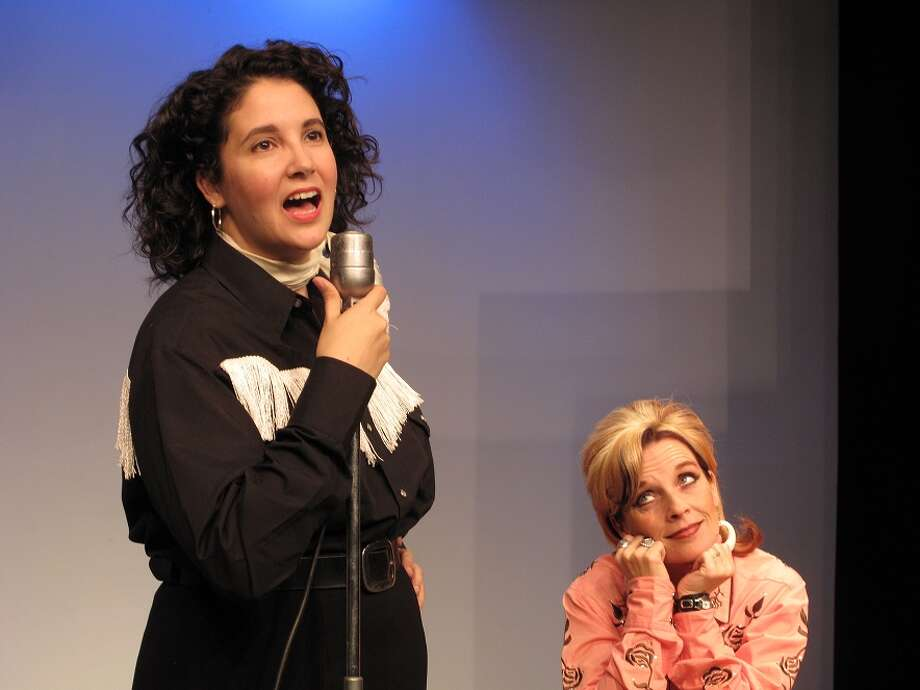 "Yesenia McNett (from left) and Joy Lindsey star in the Circle Arts Theatre's staging of ""Always...Patsy Cline."" Photo: Circle Arts Theatre"