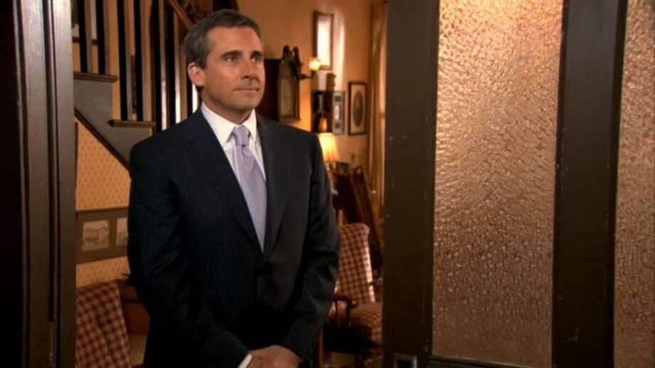 In another surprise 'Office' wedding moment, after being absent from the series for two seasons, Michael Scott appeared to serve as Dwight's best man in the series finale.