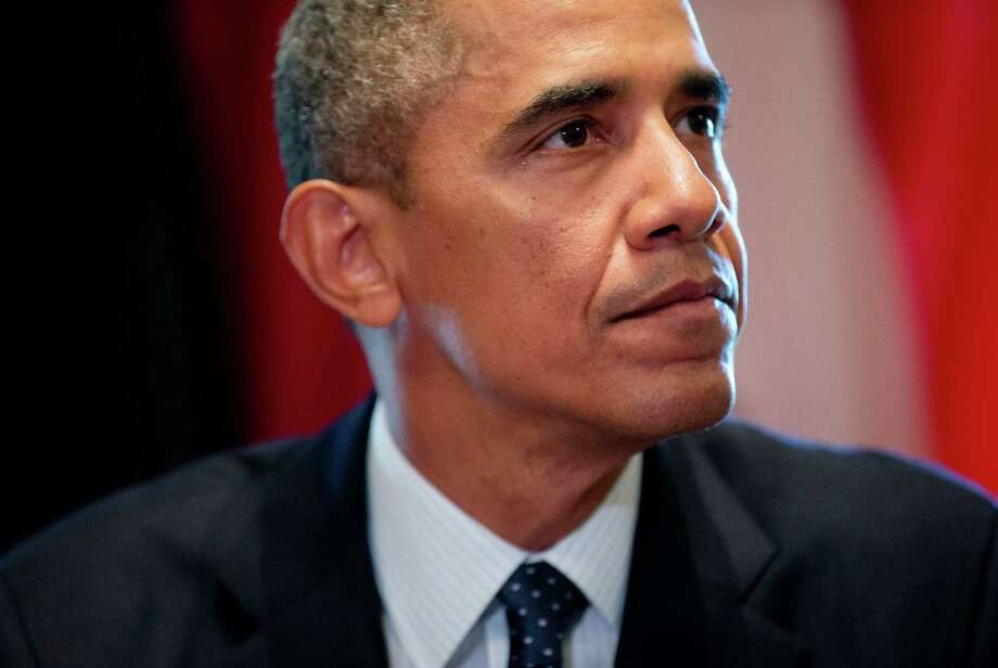 President Barack Obama pauses after speaking to members of the media during his meeting with Baltic leaders in the Cabinet Room of the White House in Washington, Friday, Aug. 30, 2013. Speking about Syria, the president said he hasn't made a final decision about a military strike against Syria. But he says he's considering a limited and narrow action in response to a chemical weapons attack that he says Syria's government carried out last week. Photo: Pablo Martinez Monsivais