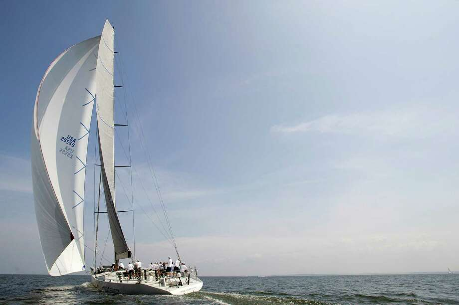 The Rambler from Hartford, Conn., competes in the 2013 Vineyard Race, which began from Stamford Yacht Club on Friday, August 30, 2013. Photo: Lindsay Perry / Stamford Advocate