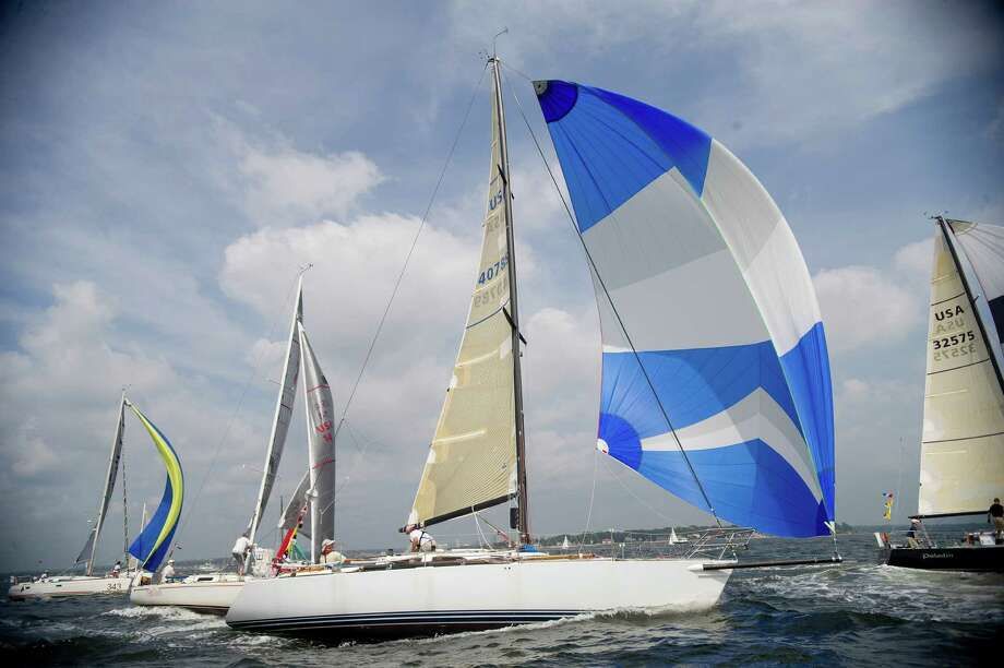 The Lora Ann of Larchmont, New York, competes in the 2013 Vineyard Race beginning from Stamford Yacht Club on Friday, August 30, 2013. Photo: Lindsay Perry / Stamford Advocate