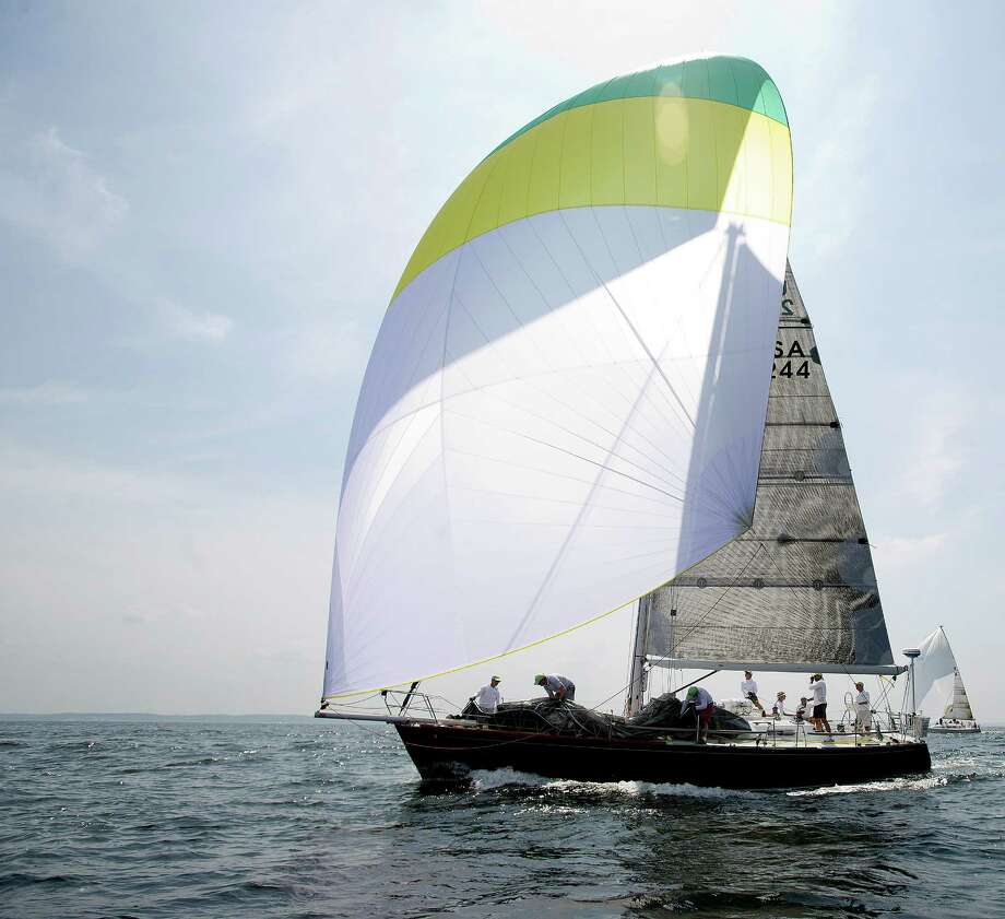 The 2013 Vineyard Race begins from Stamford Yacht Club on Friday, August 30, 2013. Photo: Lindsay Perry / Stamford Advocate