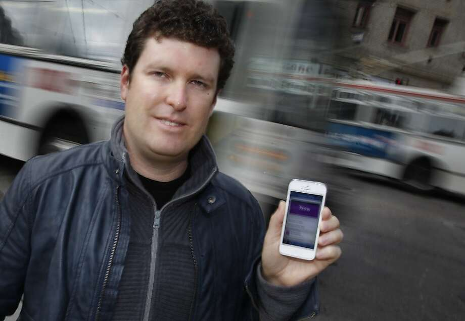 Smart Ride President and CEO Aaron Bannert was working on a new version of his transit app when he was threatened and then sued by a firm notorious for lawsuits related to vehicle-tracking technology. Photo: Lea Suzuki, The Chronicle