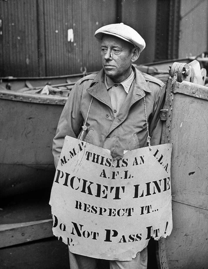 Seamens strike, 1946 Photo: LEONARD MCCOMBE, Time Life / Time & Life Pictures Creative