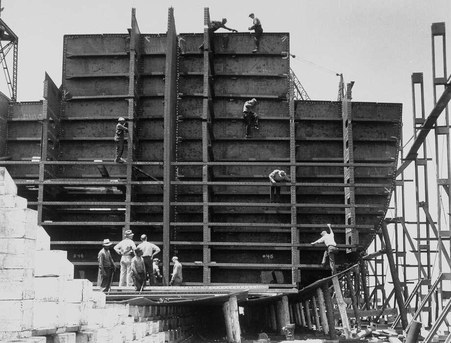 Shipbuilders, 1937 Photo: Margaret Bourke-White, Time Life / Margaret Bourke-White