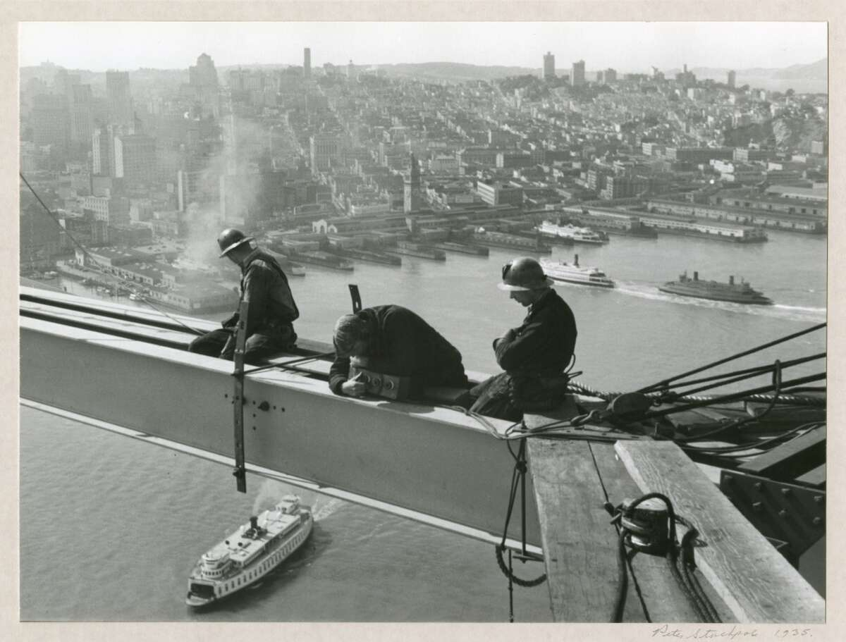 ''Men Working on I Beam, 1935,'' taken by famed photographer Peter Stackpole. The gelatin silver print is housed at the Collection of the Oakland Museum.