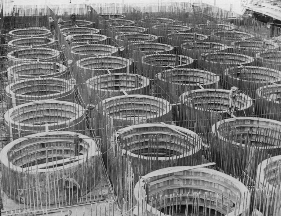 The original foundations of the San Francisco Bay Bridge which opened in 1936 Photo: General Photographic Agency, Getty Images