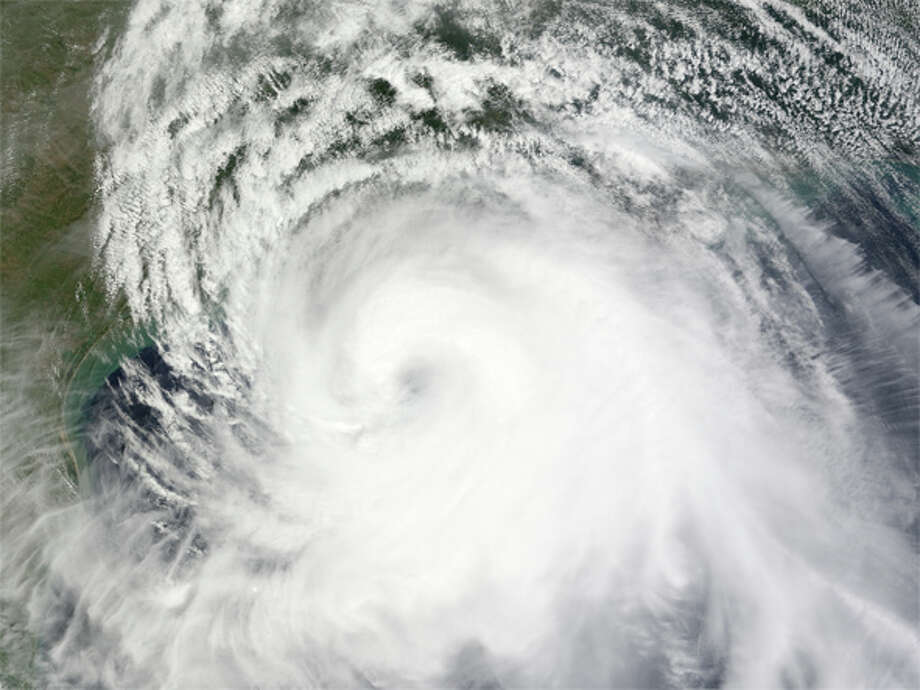 Hurricane Ike sprang to life in September 2008.  The Categor 2 storm battered Cuba, Louisiana and Texas with high winds and terrible waves. (NASA)