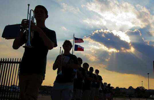 The Stratford band marches into Tully stadium on Friday, Aug. 30, 2013, in Houston. Photo: J. Patric Schneider, For The Chronicle / © 2013 Houston Chronicle