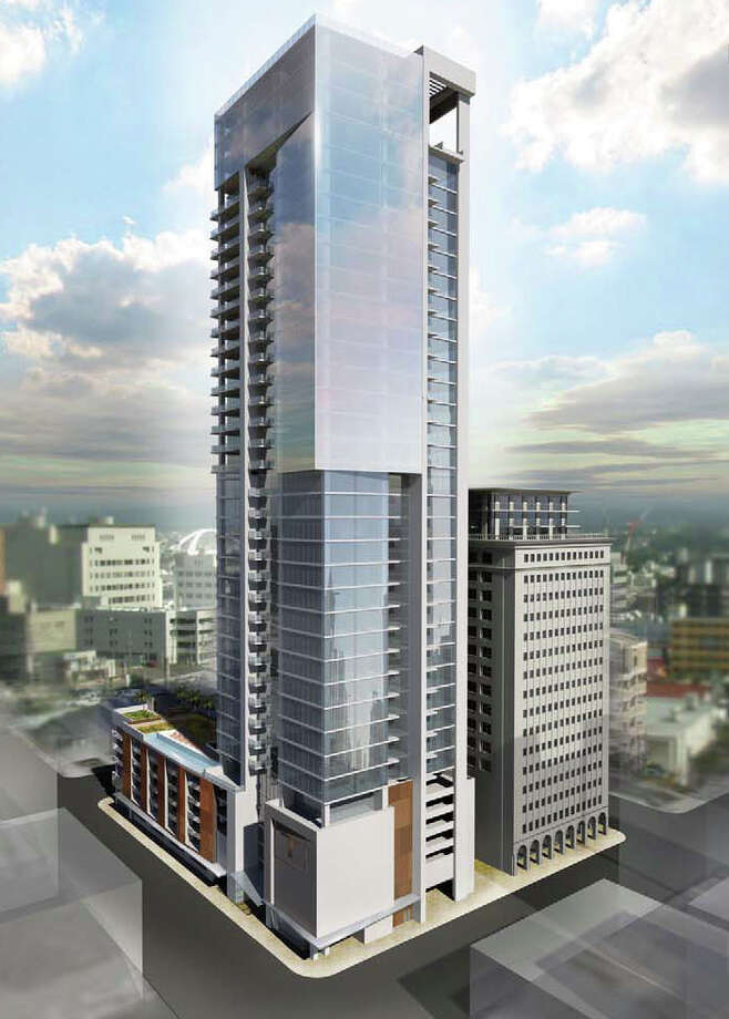 Provident Realty Advisors, which is redeveloping the former Texaco Building, is considering adding another residential tower to the site, potentially up to 28 stories. Photo: Courtesty Of Hnedak Bobo Group / courtesty of Hnedak Bobo Group