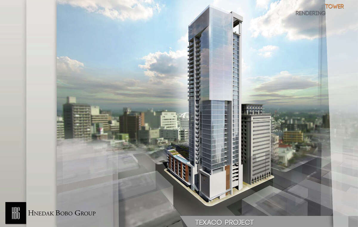 Developers are considering adding another residential tower next to the Texaco building, potentially topping out at 28 stories.