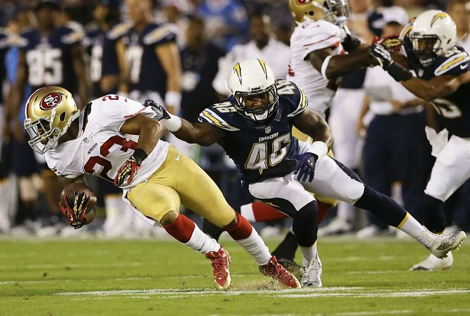 LaMichael James, the team's No. 1 punt and kickoff returner, hurt a knee in the 49ers' preseason finale in San Diego. Photo: Lenny Ignelzi, Associated Press