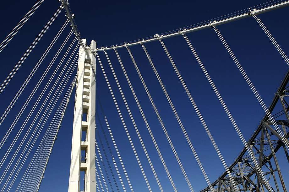 The eastern span of the Bay Bridge has been beset by problems with high-strength rods and a lack of access to maintain the structure. An international team of experts is recommending an immediate retrofit to protect the main cable from corrosion. Photo: Michael Macor, San Francisco Chronicle