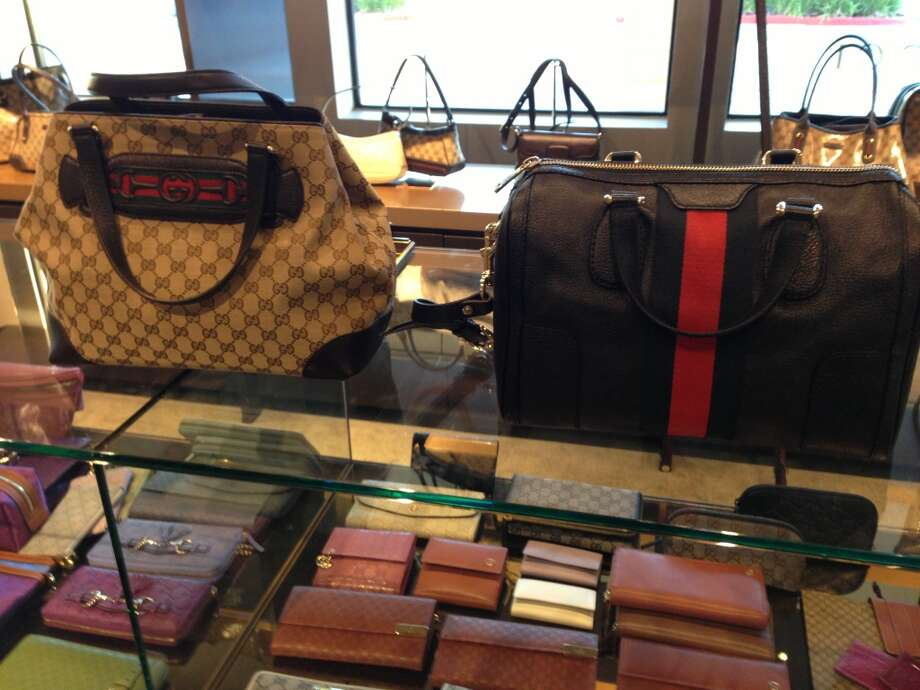 Handle it: Gucci bags at the Vacaville outlet. Photo: Kimberly Chun
