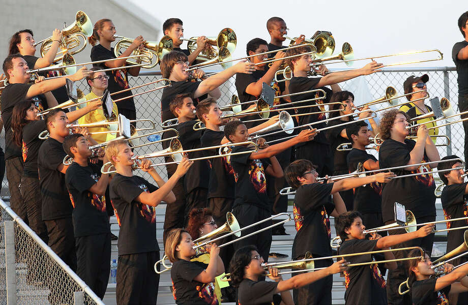 The East Central High School band plays the National Anthem before the football game against John Jay at East Central on Friday, Aug. 30, 2013. Photo: Kin Man Hui, San Antonio Express-News / ©2013 San Antonio Express-News