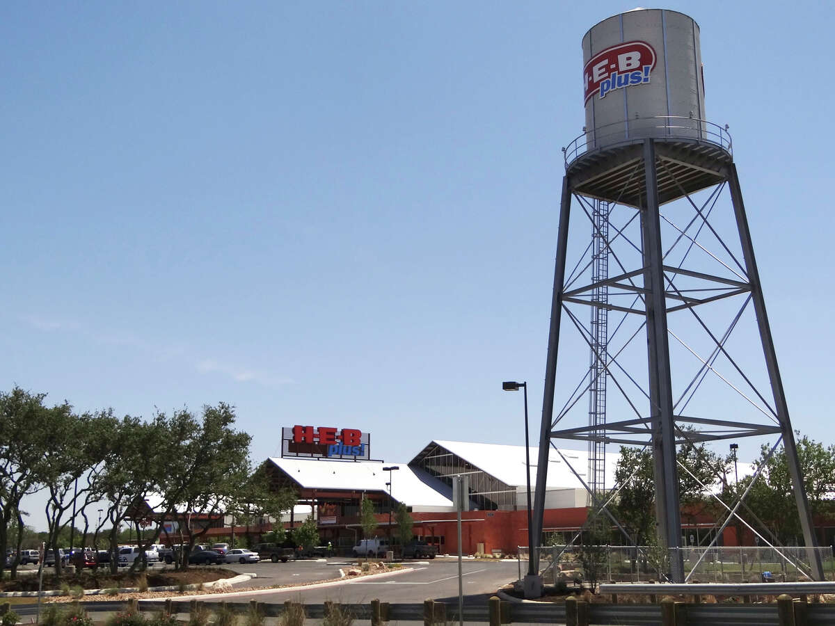 The new H-E-B Plus at Loop 1604 and Bandera Road includes a functioning water tower. The store is built on 44 acres and has over 1,180 parking spaces. Wednesday, April 25, 2012. Billy Calzada / San Antonio Express-News