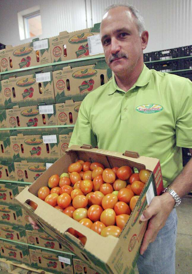 Dan Edmeier of Kingdom Fresh Produce in Donna, Texas, has teamed up with Mexican growers to distribute produce, mostly tomatoes, in the United States. In April he was named Mexican produce exporter of the year. Photo: Delcia Lopez, For The Express-News / Delcia Lopez photography