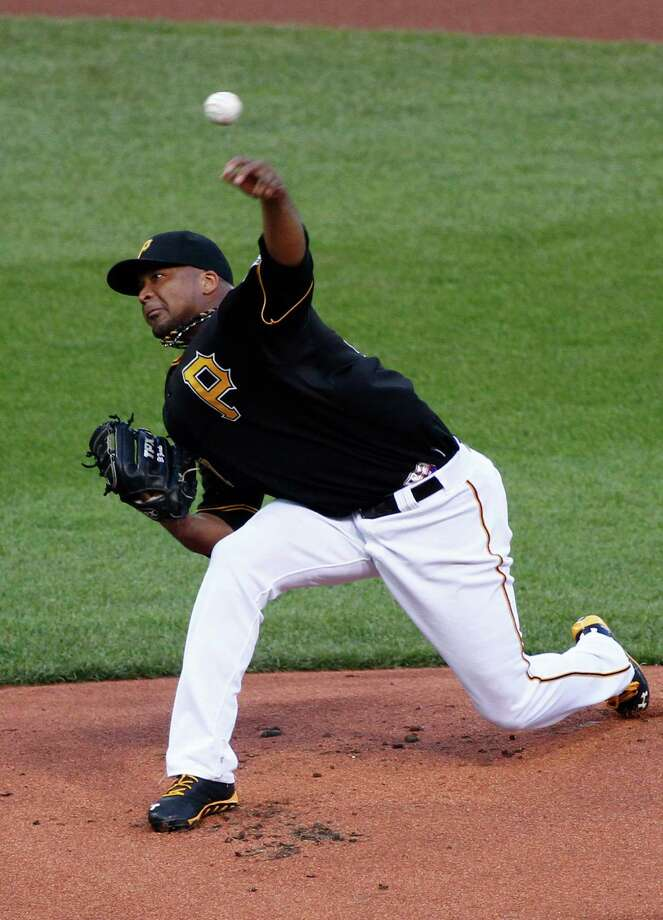 PITTSBURGH, PA - AUGUST 30:  Francisco Liriano #47 of the Pittsburgh Pirates pitches in the first inning against the St. Louis Cardinals during the game on August 30, 2013 at PNC Park in Pittsburgh, Pennsylvania.  (Photo by Justin K. Aller/Getty Images) ORG XMIT: 163495278 Photo: Justin K. Aller / 2013 Getty Images