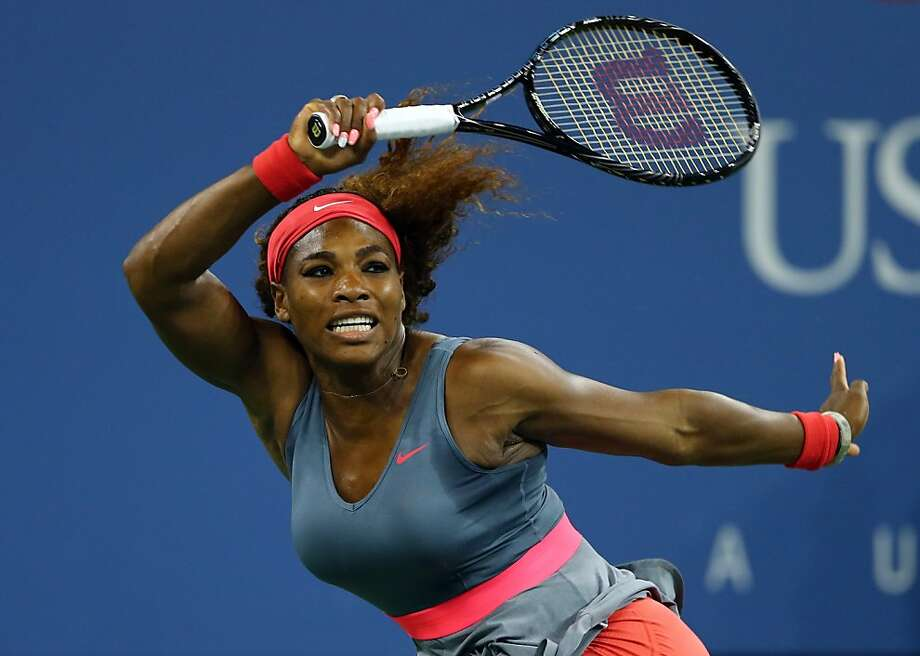 Serena Williams easily handled Yaroslava Shvedova in a midnight match and will next face Sloane Stephens. Photo: Elsa, Getty Images
