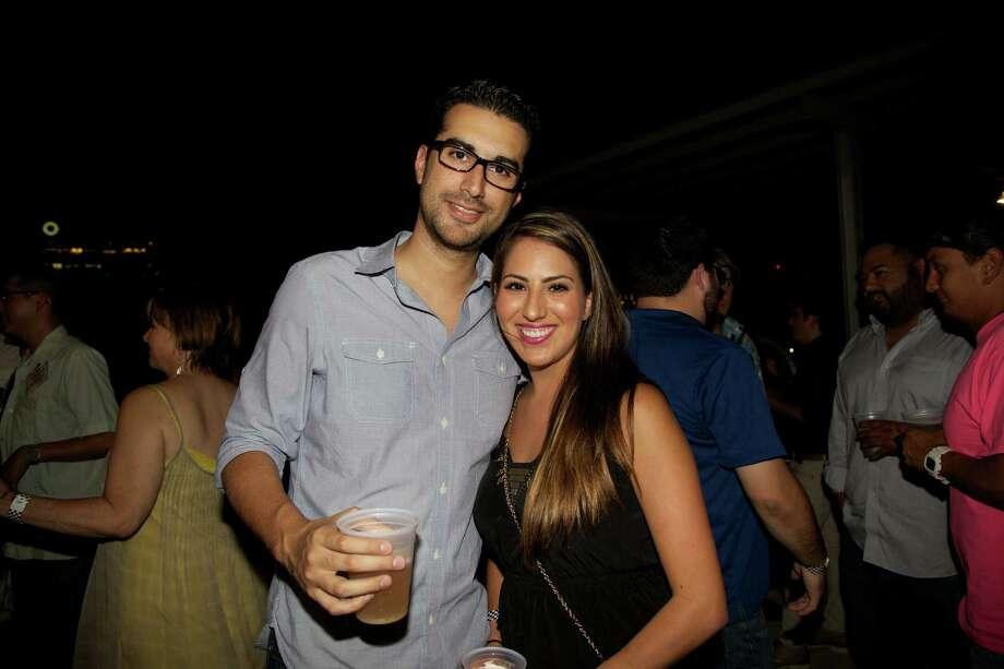 San Antonians enjoying an evening at Artpace's Fresh Art Summer Concert finale Photo: Xelina Flores-Chasnoff