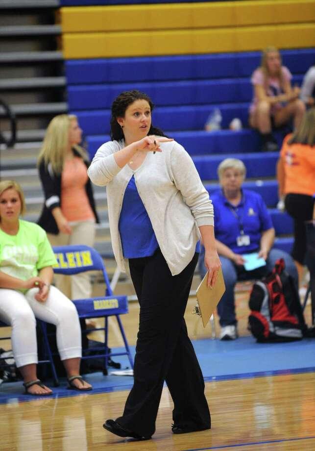 Klein won the match three games to none.   Klein coach Monica Shallenberger. Photo: Eddy Matchette, For The Chronicle / Freelance