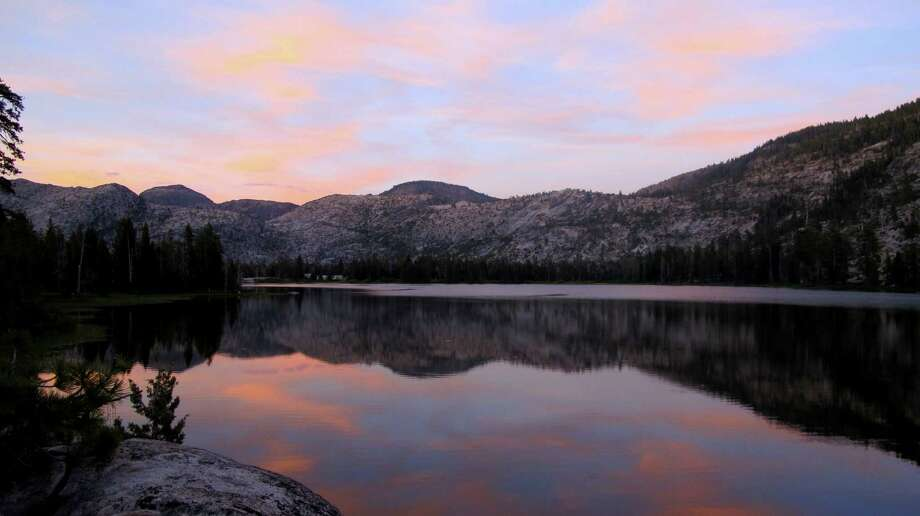 Mirror-like moment at sunset at Vernon Photo: Michael Furniss/Wild Earth Press, Picasa