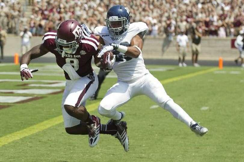 Texas A&M 52, Rice 31Record: 0-1  Texas A&M wide receiver