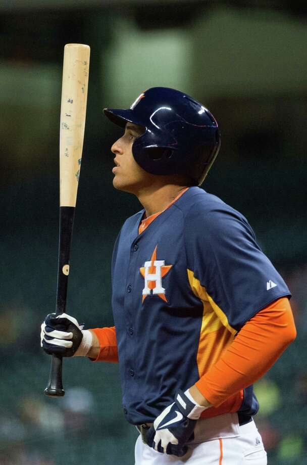 Top prospect George Springer isn't in a particular rush to don an Astros uniform and knows that his time eventually will come. Photo: Smiley N. Pool / © 2013  Smiley N. Pool