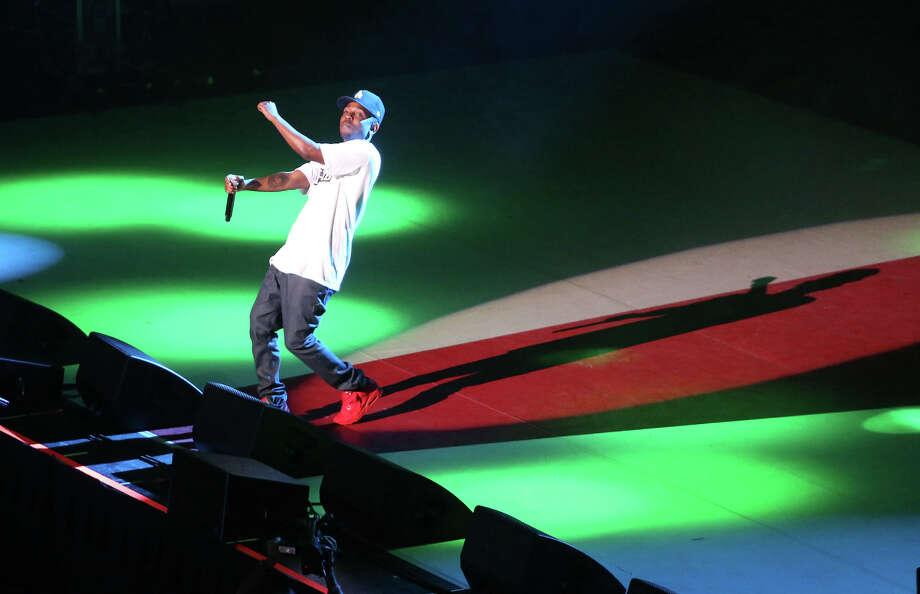 Kendrick Lamar performs in KeyArena during the first day of Bumbershoot on Saturday, August 31, 2013. Photo: JOSHUA TRUJILLO, SEATTLEPI.COM / SEATTLEPI.COM