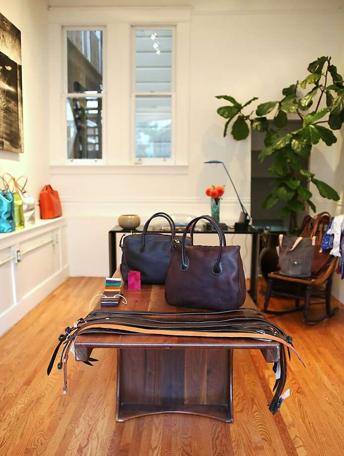 Designer Basil Racuk has opened a boutique of his handmade leather goods in the Mission, at 3458-A 18th St. Photo: Nathan Tyler Photos