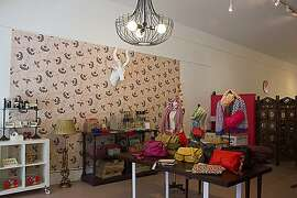 Antelope is a women's accessories boutique in the Mission District. Interior images of the clothing boutique, Antelope, located at 21st and Valencia streets in the Mission district of San Francisco, Calif. Photo by Leslie B. Calderon