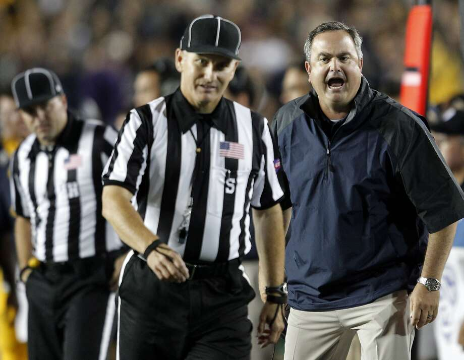 Cal head coach Sonny Dykes was unhappy with the officials in the third quarter of last year's game against Northwestern. Photo: Michael Macor, San Francisco Chronicle