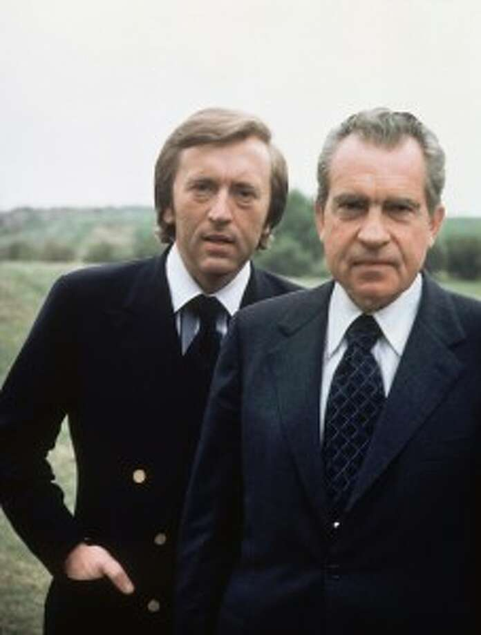 "David Frost, 1937-2013: The British broadcaster, shown here with former President Richard Nixon, became famous in this country for his  ""Frost/Nixon Interviews"" in 1977. He died on August 31 aboard a cruise ship."