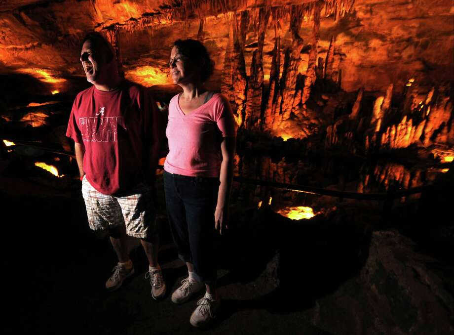 Eddie Romano and his wife, Shana, of Hazel Green, Ala., toured the Sequoyah Caverns and Ellis Homestead in Valley Head, Ala, Thursday Aug. 30, 2013. The attraction, located in Valley Head, Alabama, is scheduled to close after the Labor Day holiday. The caverns have been a popular tourist destination since 1964. Photo: AP