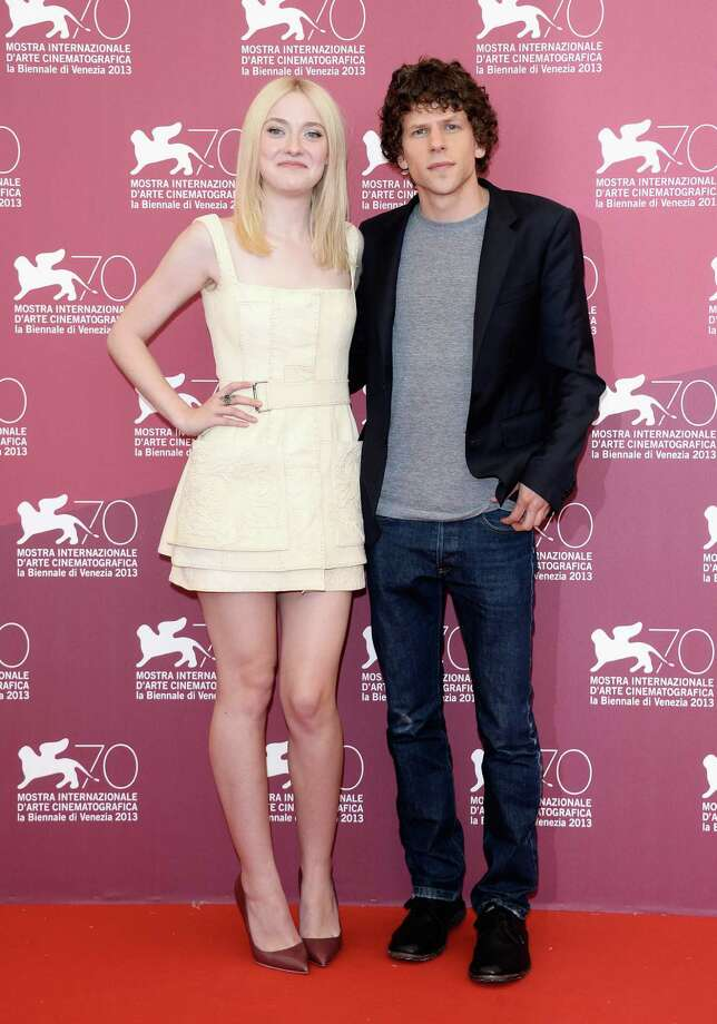 "VENICE, ITALY - AUGUST 31:  Actors Dakota Fanning and Jesse Eisenberg attend ""Night Moves"" Photocall during the 70th Venice International Film Festival at Palazzo del Casino on August 31, 2013 in Venice, Italy.  (Photo by Venturelli/WireImage) Photo: Venturelli, Getty Images / 2013 Venturelli"