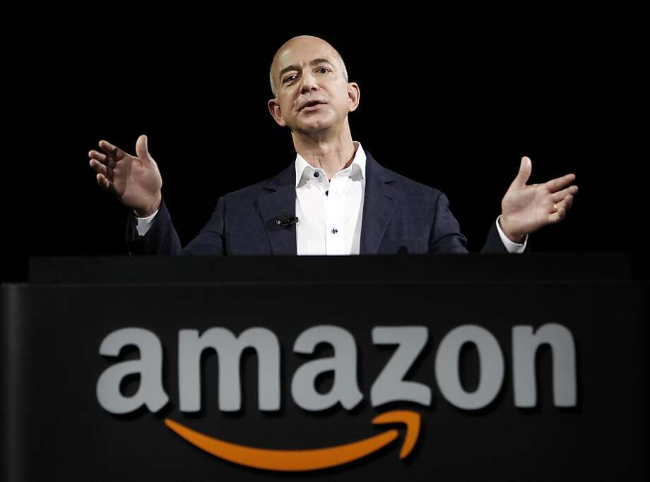 FILE - In this Sept. 6, 2012 file photo, Amazon founder and CEO Jeff Bezos speaks in Santa Monica, Calif. Bezos plans to buy The Washington Post for $250 million. (AP Photo/Reed Saxon, File) Photo: Reed Saxon, Associated Press