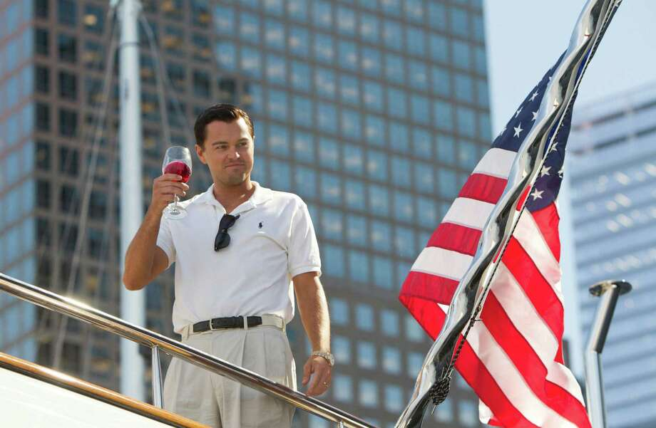 "This film image released by Paramount Pictures shows Leonardo DiCaprio as Jordan Belfort in a scene from ""The Wolf of Wall Street."" Photo: AP"