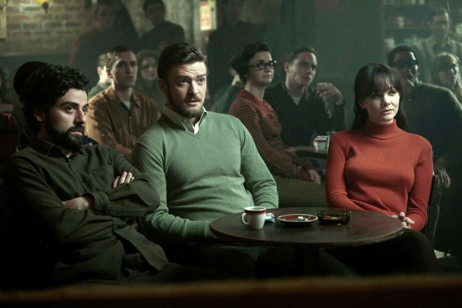 "This film image released by CBS FIlms shows, from left, Oscar Isaac, Justin Timberlake and Carey Mulligan in a scene from ""Inside Llewyn Davis."" Photo: AP"
