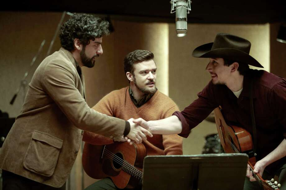 "This film image released by CBS FIlms shows, from left, Oscar Isaac, Justin Timberlake and Adam Driver in a scene from ""Inside Llewyn Davis."" Photo: AP"