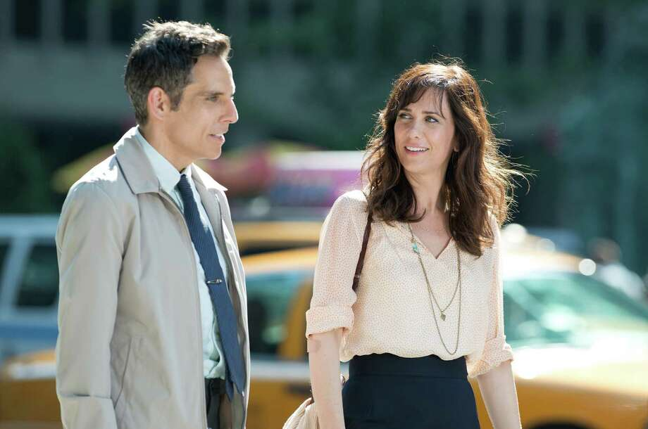 "This film image released by 20th Century Fox shows Ben Stiller, left, and Kristen Wiig in ""The Secret Life of Walter Mitty."" Photo: AP"
