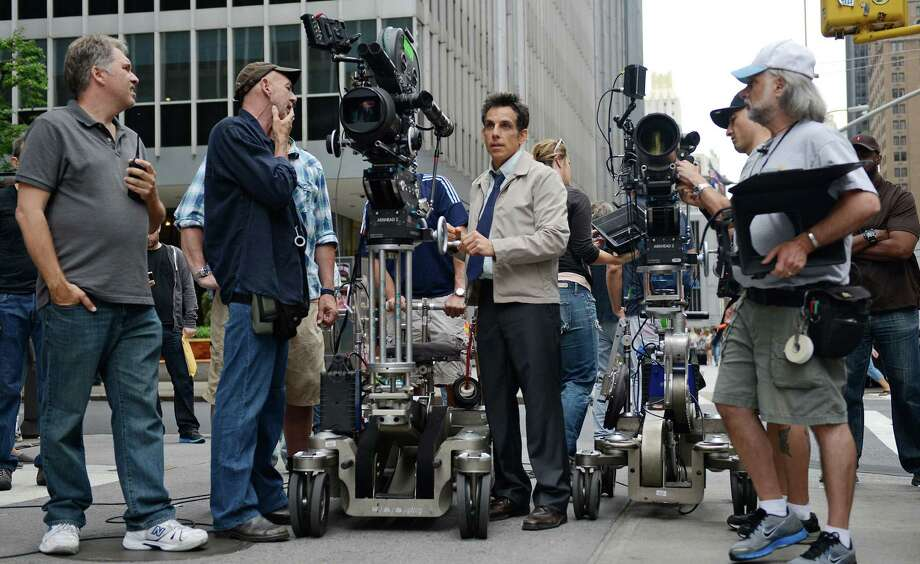 "This film image released by 20th Century Fox shows actor and director Ben Stiller on the set of ""The Secret Life of Walter Mitty."" Photo: AP"