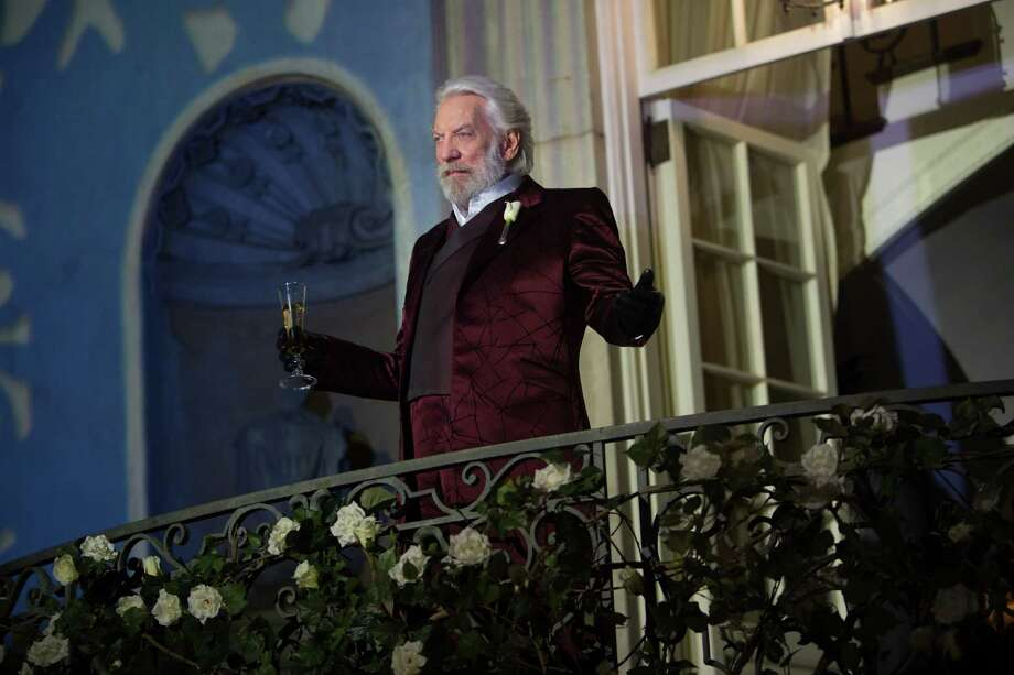 """This film image released by Lionsgate shows Donald Sutherland in a scene from """"The Hunger Games: Catching Fire."""" Photo: AP"""