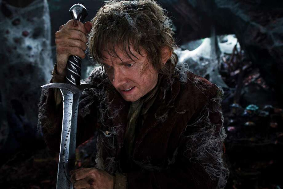 "This film image released by Warner Bros. Pictures shows Martin Freeman as  Bilbo Baggins in a scene from ""The Hobbit: The Desolation of Smaug."" Photo: AP"